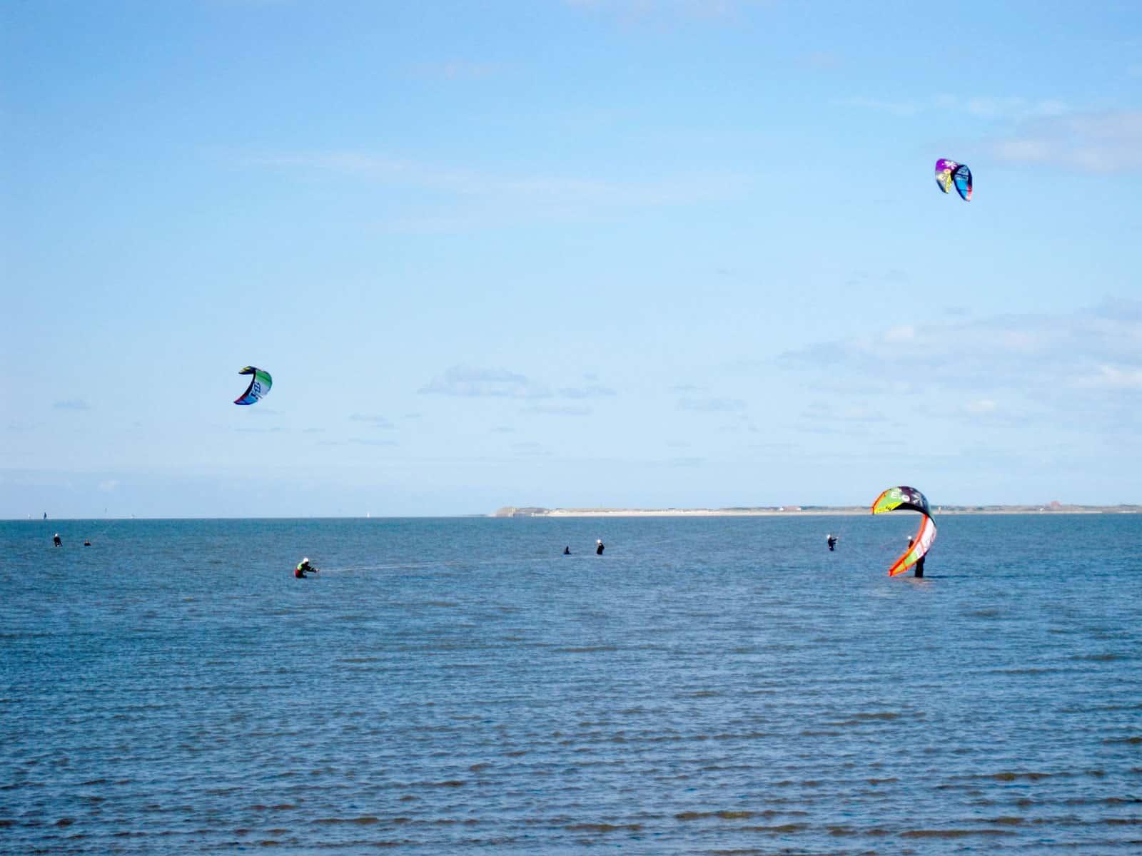 Kites an der Nordsee