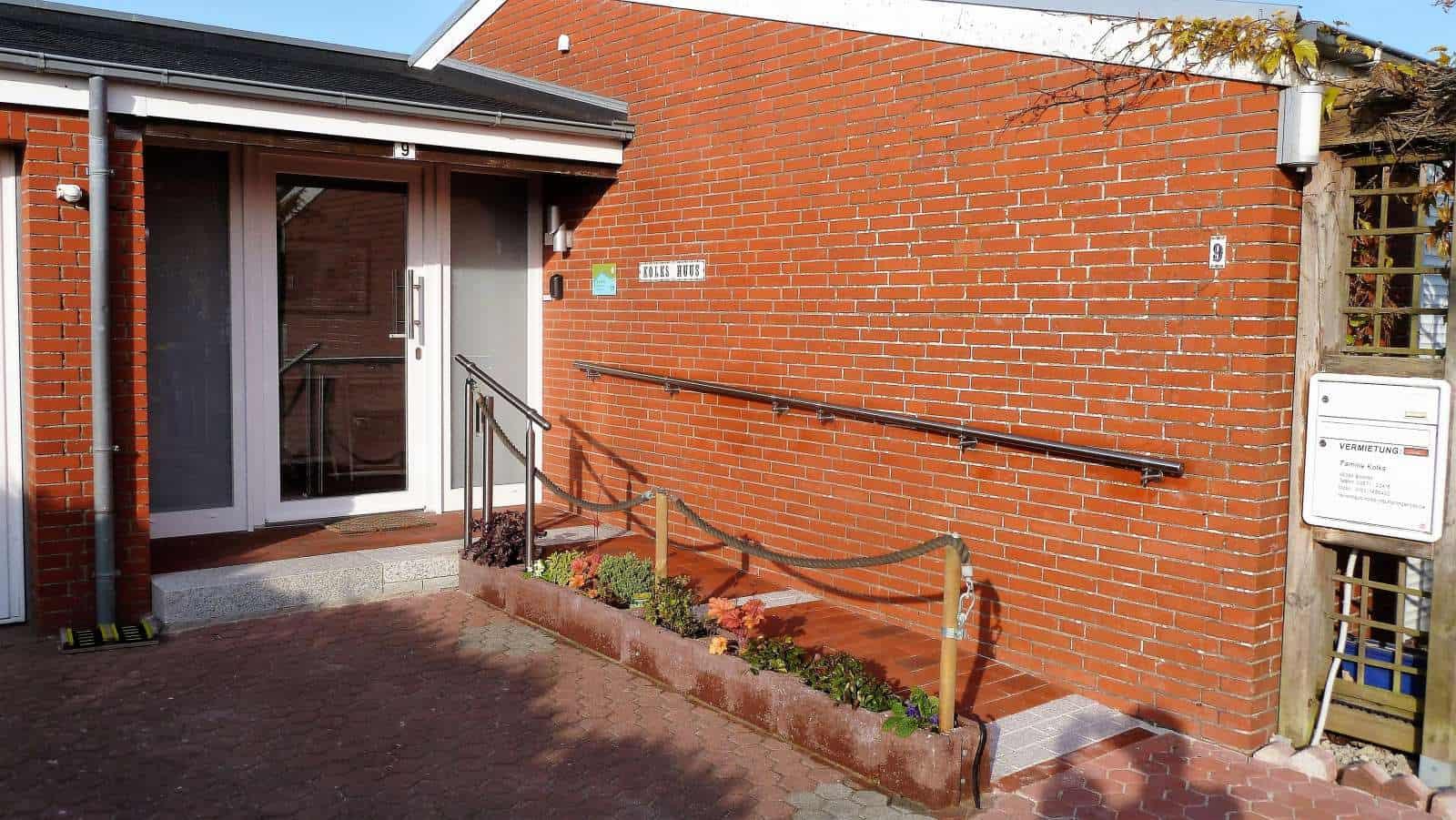 Ebenerdiger Zugang zum Ferienhaus Kolks Huus Besanweg 9 in Neuharlingersiel